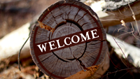 Welcome-log